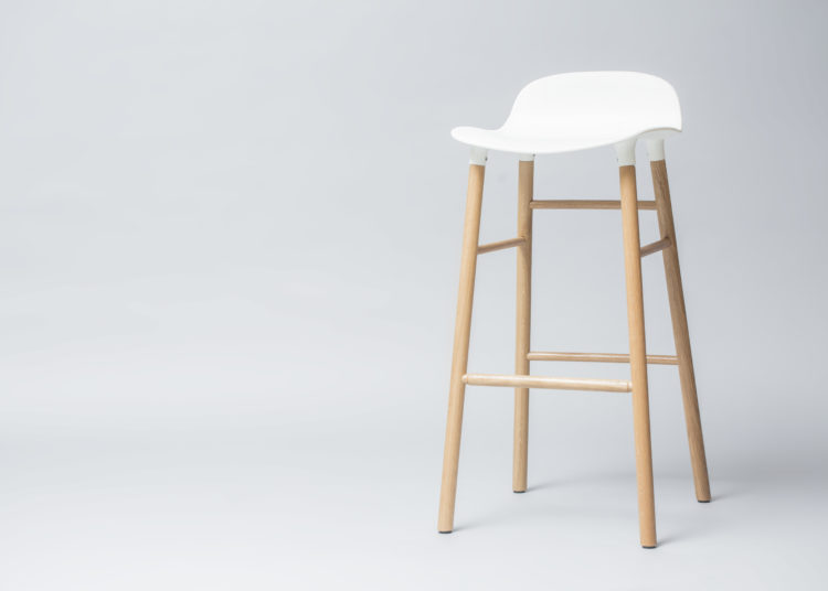 Tall white kitchen stool