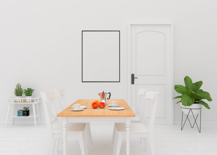 Dining room - black frame mockup