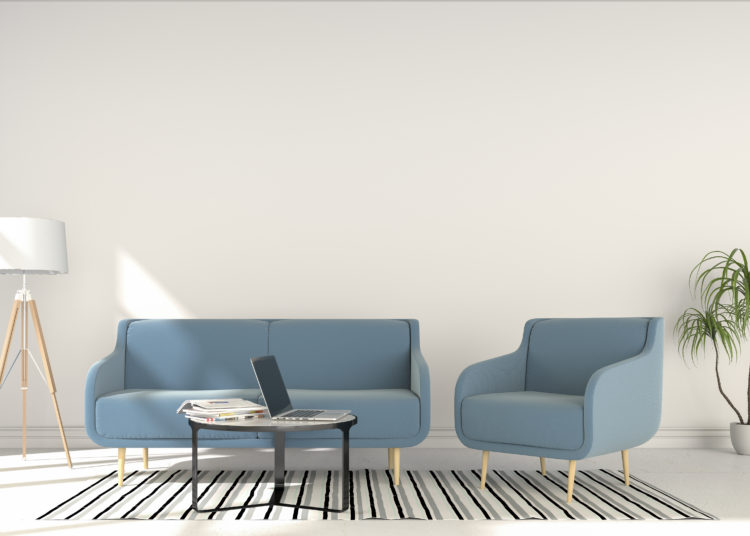 Modern sofa in the living room