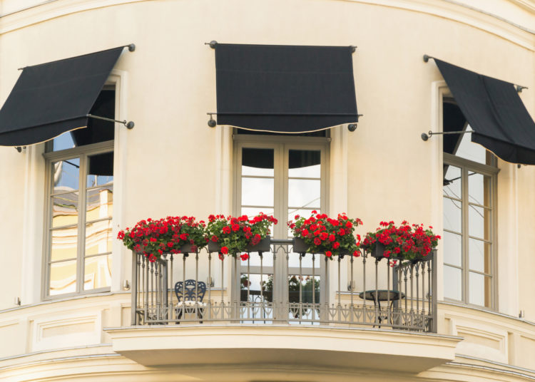 Window decoration with flower beds in Odessa