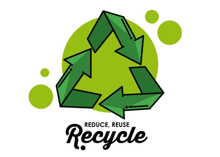 Recycle round symbol icon vector illustration graphic