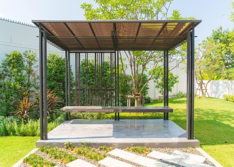 Empty pavilion in the garden