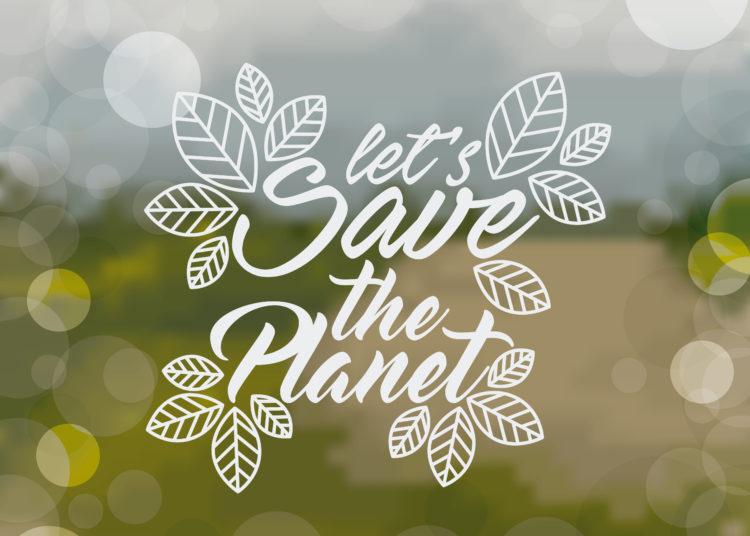 landscape low poly design, vector illustration, save the planet