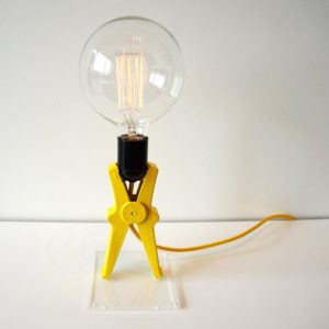 Modern lamp with a bulb, design
