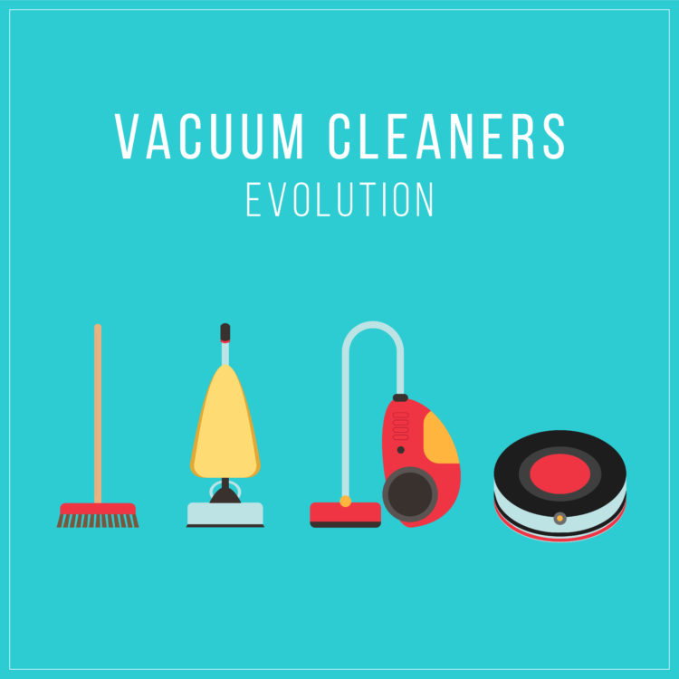Vector set of stylized cleaning tools icons.