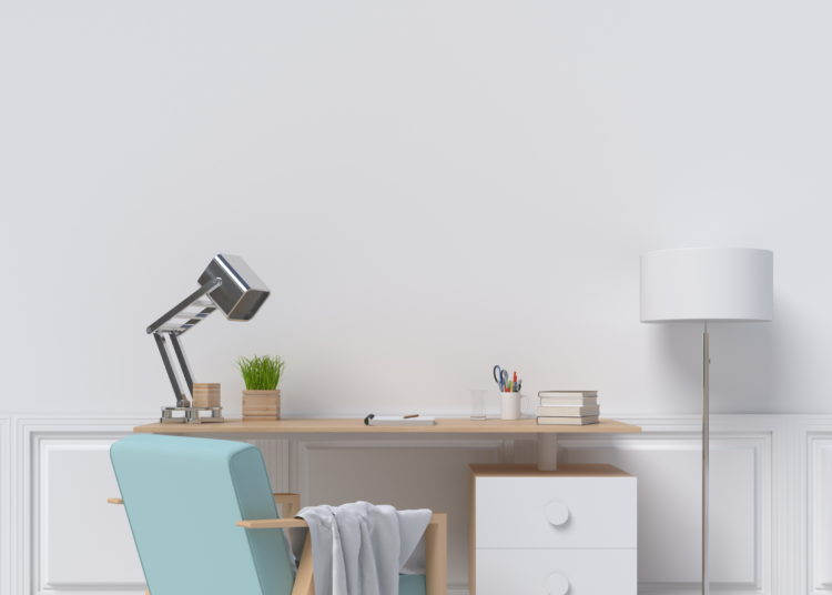 Modern office furniture in the house
