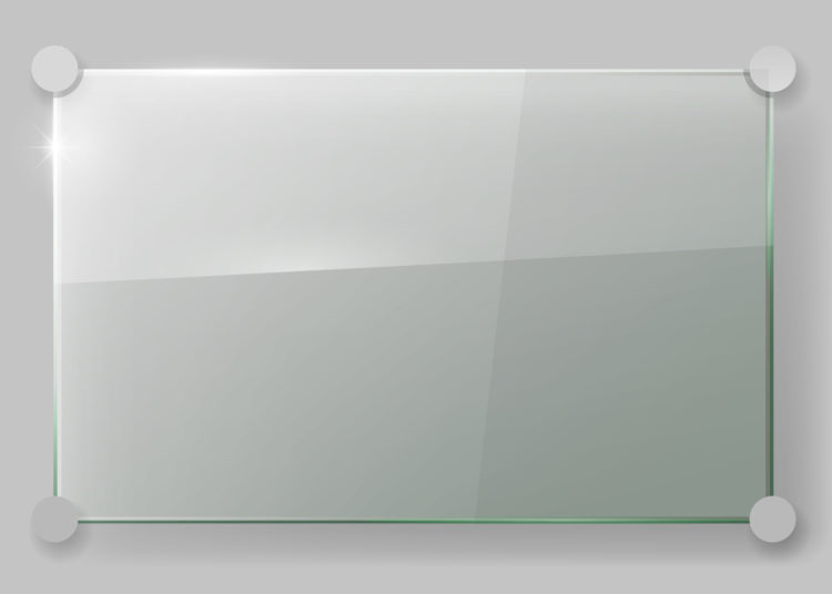 Transparent acrylic glass